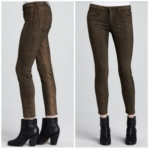 Joe's Snake Print Coated Skinny Ankle Jeans 26